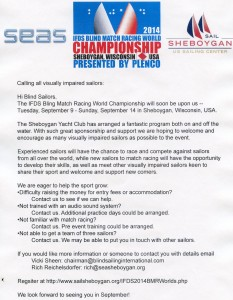 Calling all visually impaired sailors: